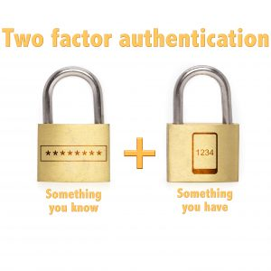Two factor authentication - something you know + something you have