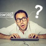 Man trying to remember his password